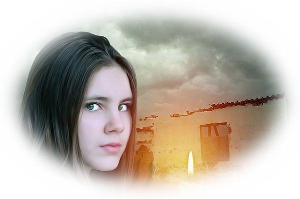 廃墟で幽霊を見る夢