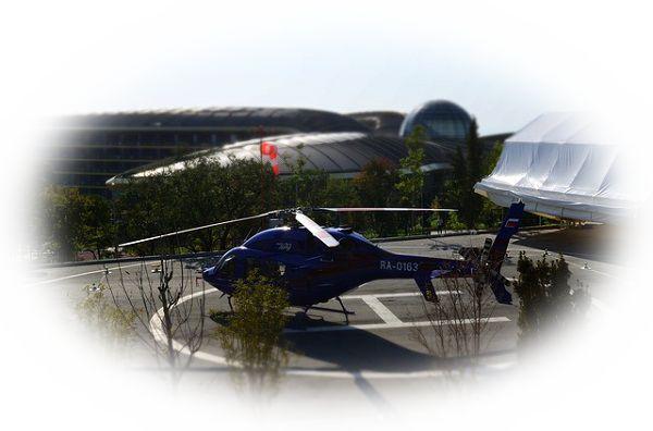 ヘリポートでヘリコプターに乗ろうとしている夢
