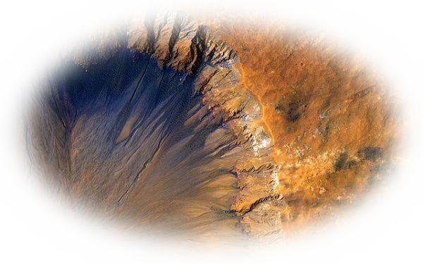 火山に隕石が落ちて爆発する夢