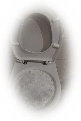 トイレの便器から水が溢れている夢(トイレが詰まる夢)