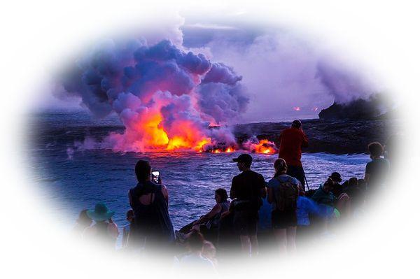 火山を観光する夢(火山を団体旅行する夢)