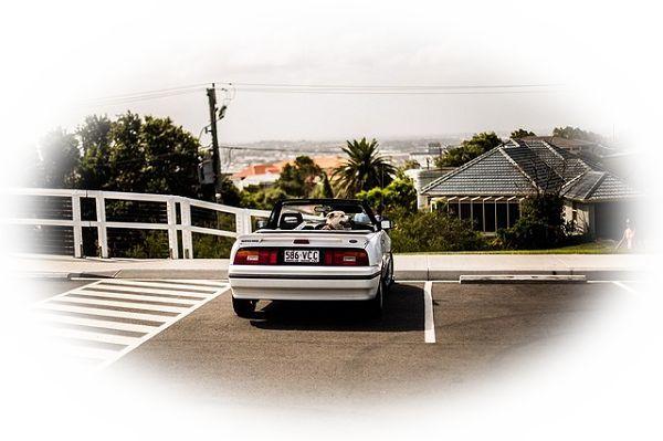屋上駐車場に車を止める夢