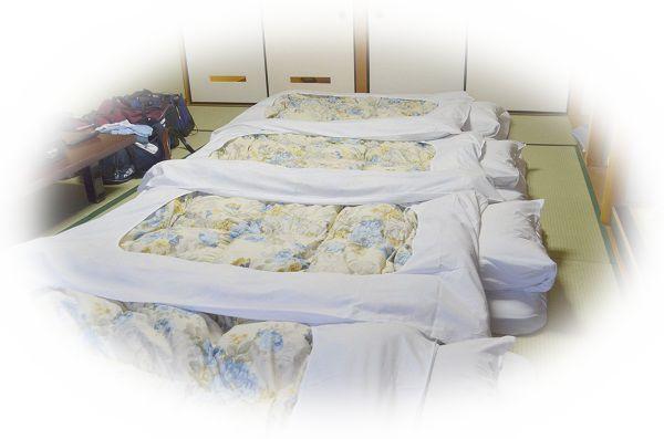旅館の布団で寝る夢(旅館の布団で恋人や友達と寝る夢)