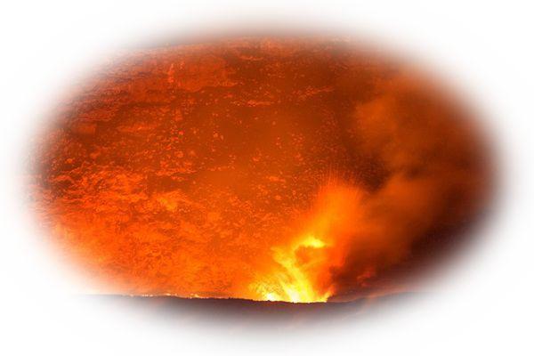 火山から溶岩(マグマ)があふれ出ている夢