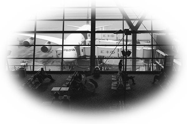 空港に一日中いる夢