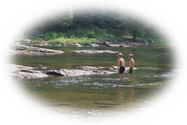 川の中に立っている夢