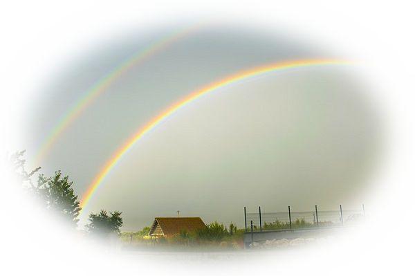 二重にかかる虹を見る夢