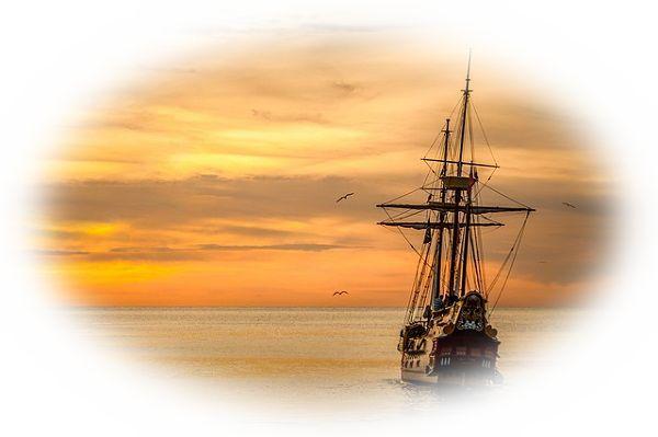 船が遠ざかっていく夢(遠ざかっていく船が強風に煽られる夢)