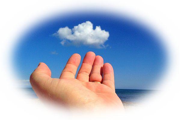 雲に手が届きそうな夢