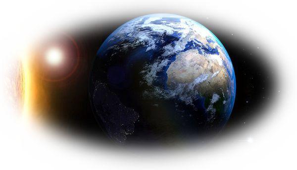 地球が他の星と一緒に輝いている夢