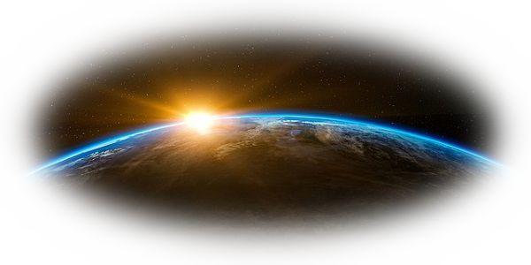 地球の後ろから太陽が顔を出している夢(地球の後ろに太陽が隠れる夢)
