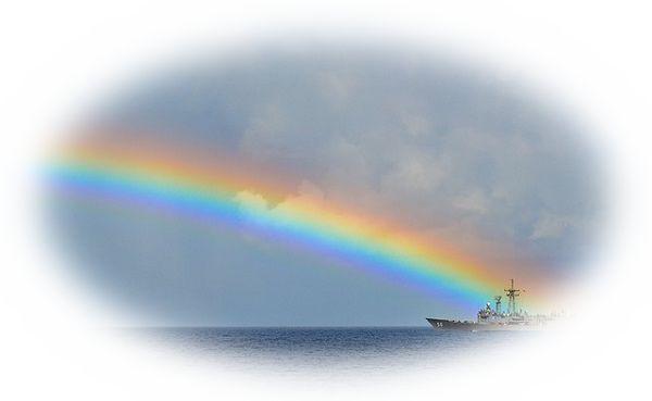 虹が地平線にかかる夢