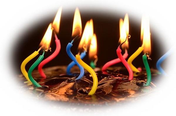 誕生日ケーキのキャンドルの火を消す夢